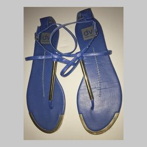 DOLCE VITA BLUE STRAPPY SANDALS - WOMENS SIZE 10